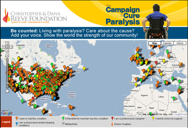 Map of paralysis community